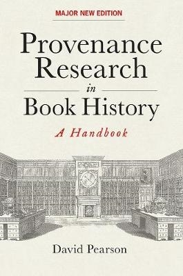 David Pearson,Provenance Research in Book History