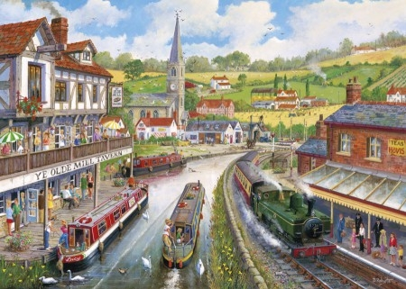 Gib-g6240,Puzzel the old mill tavern - roberts gibsons - 1000 - 68 x 49