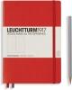 <b>Lt313627</b>,Leuchtturm notitieboek medium 145x210 dots / bullets rood