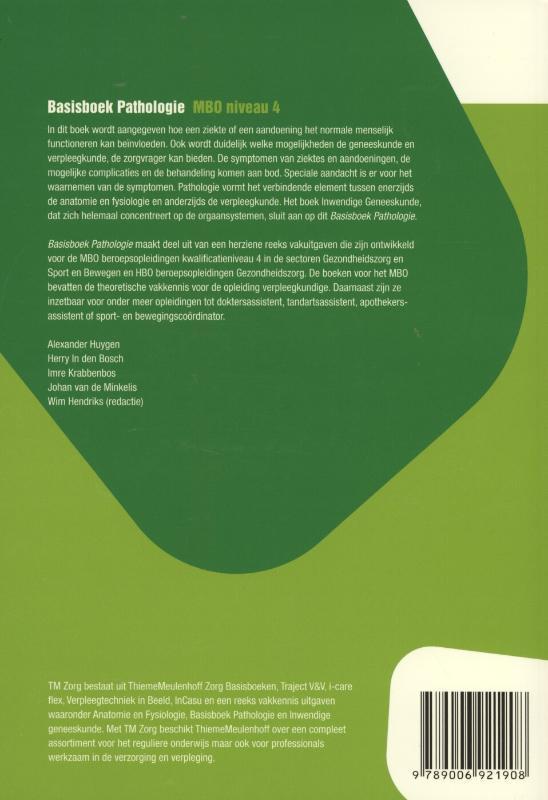 Wim Hendriks, Herry in den Bosch, Alexander Huygen, Imre Krabbenbos, Johan van de Minkelis,Basisboek pathologie