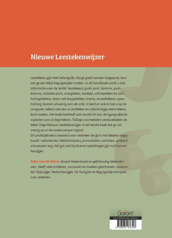 Peter van der Horst,Nieuwe Leestekenwijzer