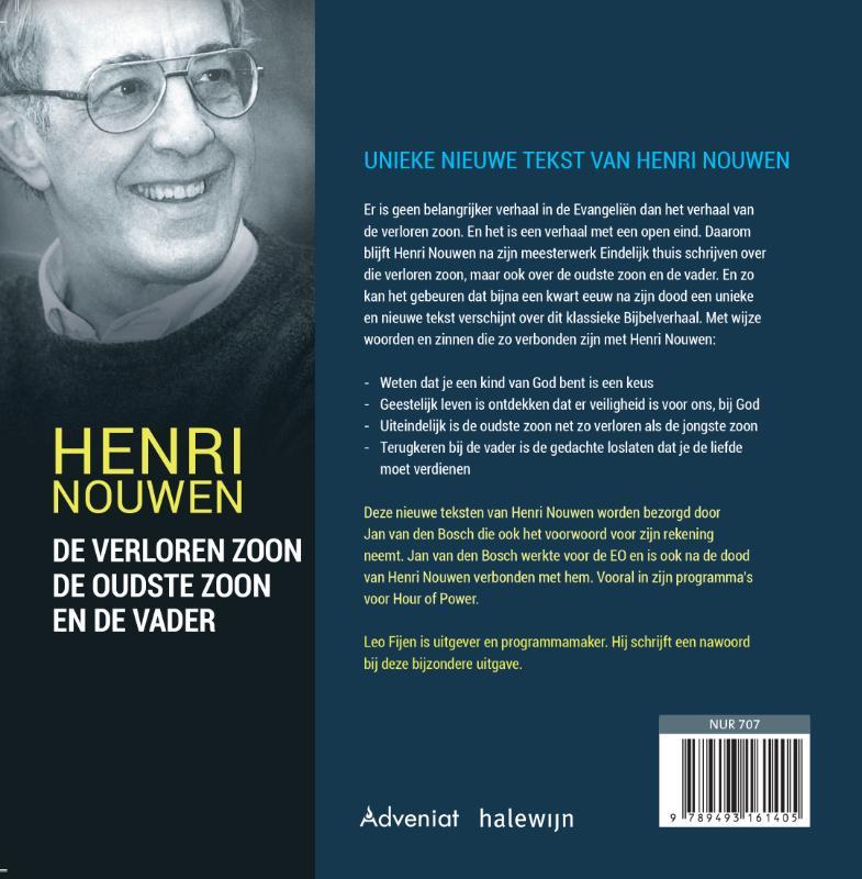 Henri Nouwen,De verloren zoon, de oudste zoon en de vader