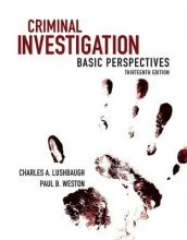 Lushbaugh, Charles A.,   Weston, Paul B. Criminal Investigation