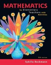 Beckmann, Sybilla Mathematics for Elementary Teachers With Activities
