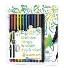 , Fineliner Chameleon bright blister à 12 kleuren