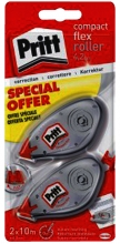 , Correctieroller Pritt 4.2mmx10m compact flex blister 2e halve prijs