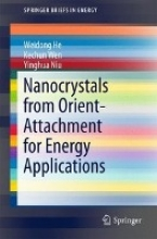 He, Weidong Nanocrystals from Orient-Attachment for Energy Applications