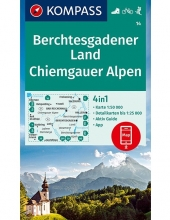 KOMPASS-Karten GmbH , KOMPASS Wanderkarte Berchtesgadener Land, Chiemgauer Alpen 1:50 000