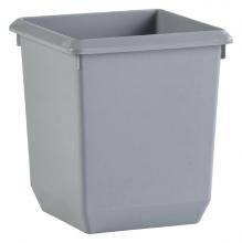 , Papierbak kunststof vierkant taps 21liter grijs