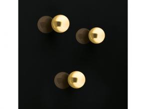 , Magneet voor glasbord kogel   12,7mm Strong Goud 3 st.