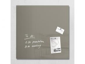 glasmagneetbord Sigel Artverum 480x480x15mm taupe
