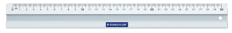 , Liniaal Staedtler 563 300mm metaal