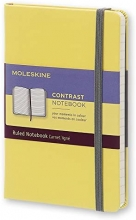 , Moleskine LE Notitieboek Contrast Pocket (9x14 cm) Gelinieerd Harde Kaft Citroengeel