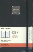 Moleskine Tageskalender, 18 Monate, 2018/2019, Large/A5, Hard Cover, Schwarz