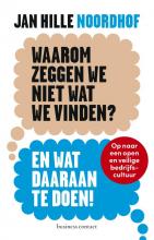 Jan Hille Noordhof , Waarom zeggen we niet wat we vinden?