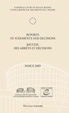 , Reports of judgments and decisions recueil des arrets et decisions Index 2009