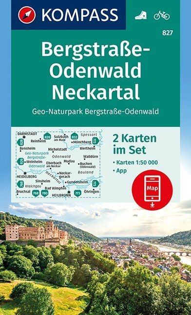 ,Bergstraße-Odenwald, Neckartal, Geo-Naturpark Bergstraße-Odenwald 1 : 50 000