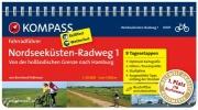 Pollmann, Bernhard,RF6007 Nordseek?sten-Radweg 1, von der holl?ndischen Grenze nach Hamburg Kompass