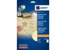 ,visitekaartjes Avery 85x54mm 200gr beige 25 vel 10 kaarten  per vel