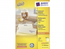 ,etiket Avery ILK 105x148mm 200 vel 4 etiketten per vel wit
