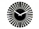 ,Wandklok NeXtime dia. 43 cm, glas, zwart, `Dreamtime`