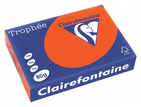 , Kopieerpapier Trophee A4 80gr cardinaalrood 500vel