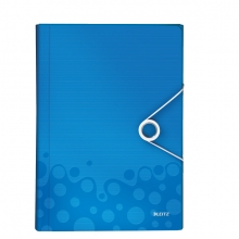 , Sorteermap Leitz WOW PP 6-vaks blauw