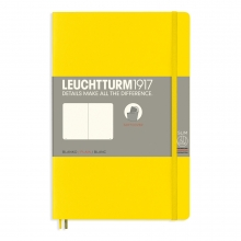 Lt358304 , Leuchtturm notitieboek softcover 19x12.5 cm blanco lemon geel