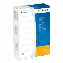 , Etiket Herma 8220 88.9x35.7mm 2-baans wit 8000stuks