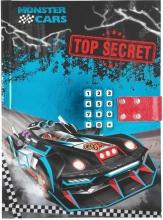Monster cars dagboek met geheime code