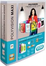 , Presentatieringband Oxford Polyvision Maxi A4 XL 4-rings D-mech 40mm transparant