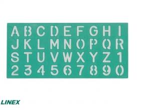 , Lettersjabloon Linex 30mm hoofdletters/letters/cijfers