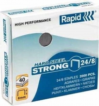 , Nieten Rapid 24/8 kopercoating strong 2000 stuks