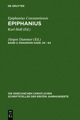 Jurgen Dummer,Panarion haer. 34-64