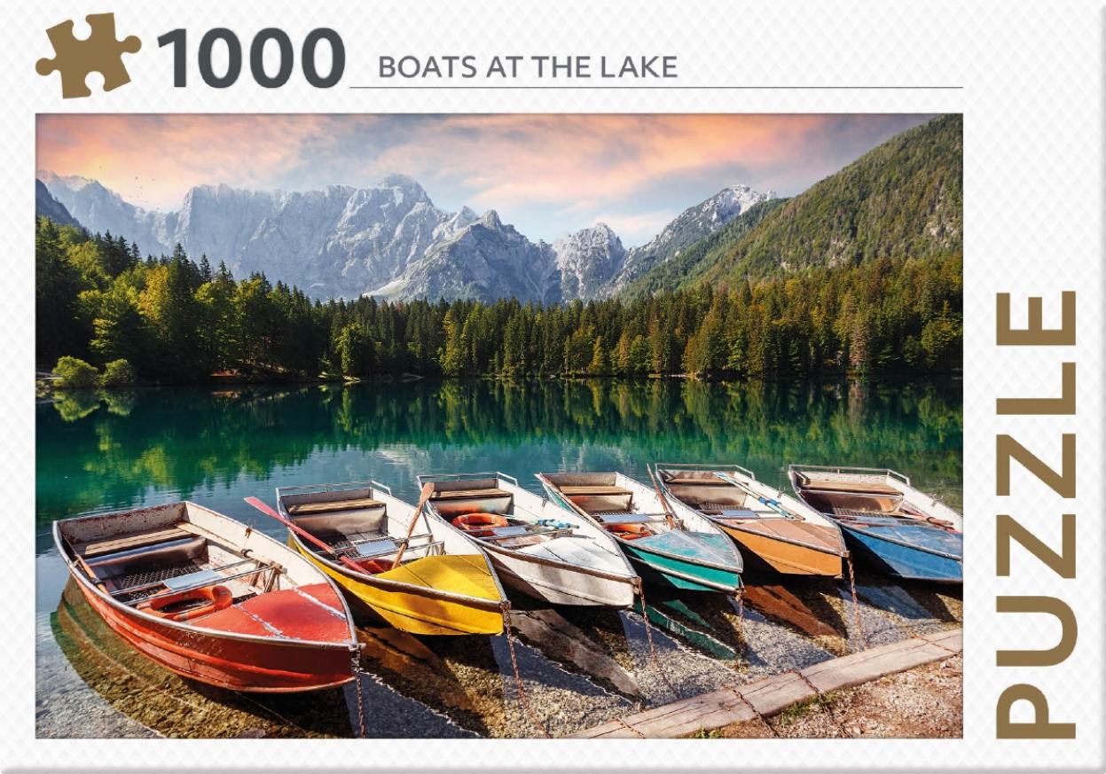 ,Rebo legpuzzel 1000 stukjes - Boats at the lake