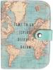 ,<b>Paspoort hoesje vintage world map</b>