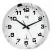 , wandklok TIQ RC diameter 400 mm kunststof zilver, witte     wijzerplaat