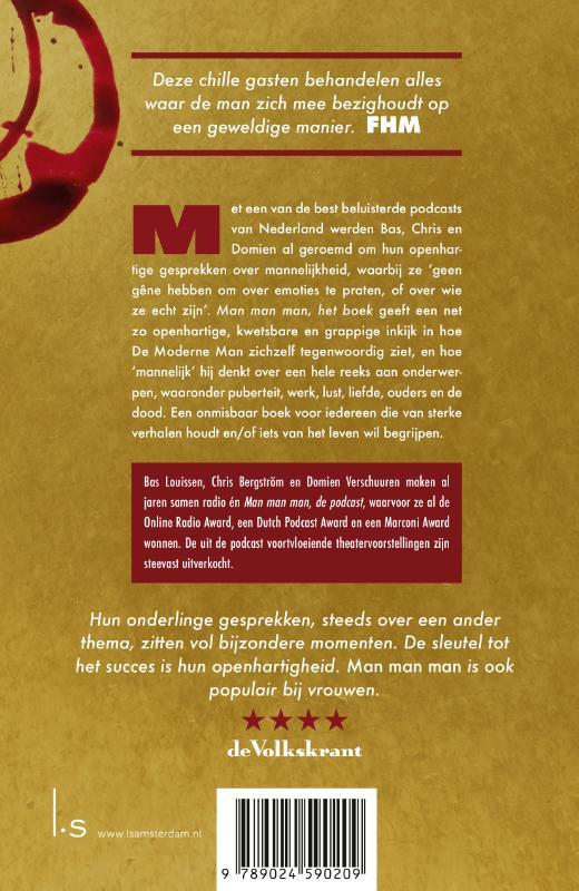 Domien Verschuuren, Bas Louissen, Chris Bergström,Man man man, het boek