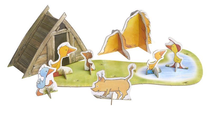 Olivier Dunrea,Gonnie en haar vriendjes spelen op de boerderij