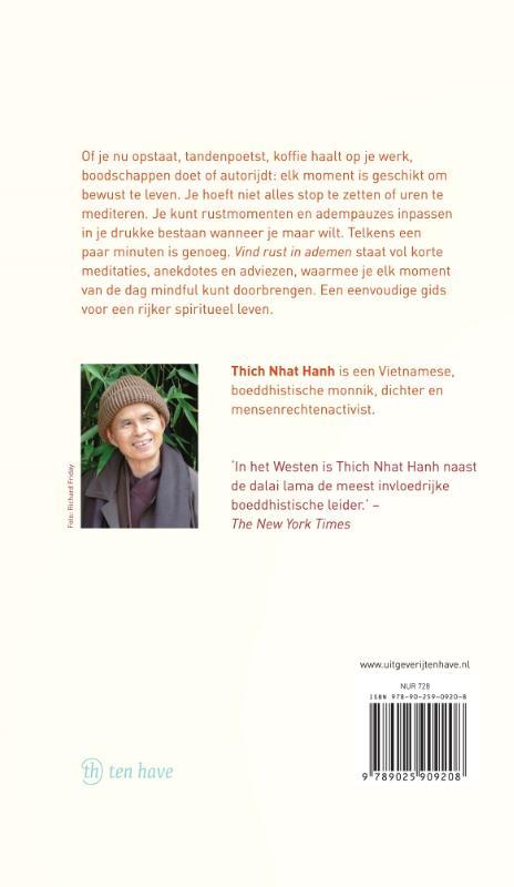 Thich Nhat Hanh,Vind rust in ademen