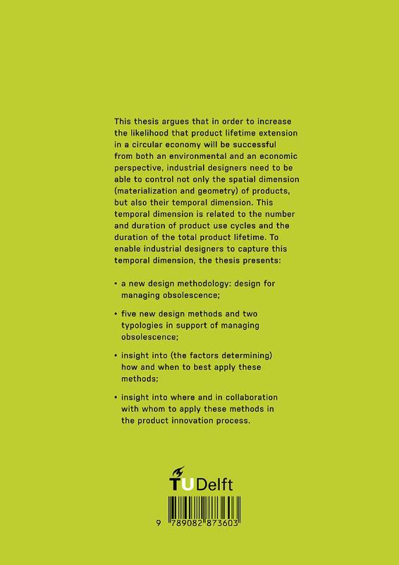 Marcel den Hollander,Design for Managing Obsolescence