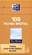 , Flashcard Oxford 75x125mm 100vel 210gr blanco wit