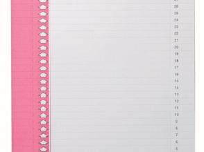 , Ruiterstrook Elba Nr 0 297x6mm verticaal roze