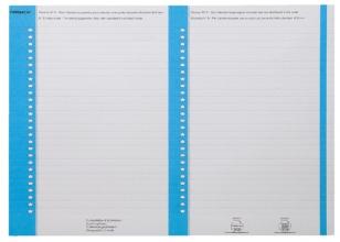 , Ruiterstrook Elba Nr 8 138x6mm lateraal blauw