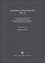 Verzeichnis der orientalischen Handschriften in Deutschland 2.18. Indische Handschriften