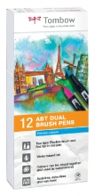 , Brushstift Tombow Abt Dual assorti doos à 12 stuks