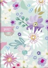 Buchkalender Flowers 2017. 2 Seiten = 1 Woche, 148 x 205 mm