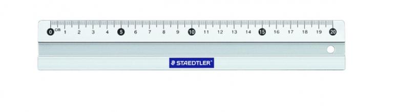 , Liniaal Staedtler 563 200mm aluminium