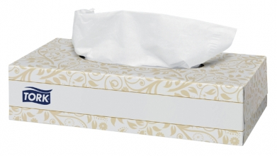 , Facial tissues Tork 140280 Premium 2laags 20x21cm 100st.