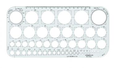 , Sjabloon Staedtler 576 cirkel 1-36mm